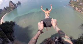 Gruesome, Incredible BASE Jump With Parachute PIERCED Into Flesh
