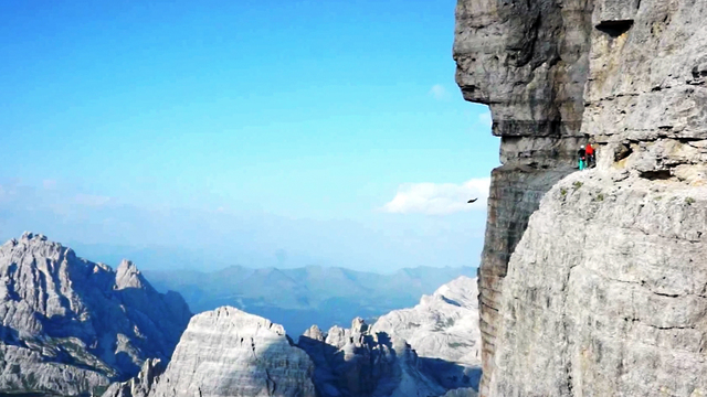 Mixing Climbing And BASE Jumping On Italy's Most Notorious North Face