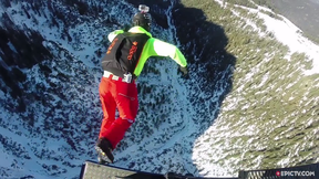 Incredible DOUBLE BASE Jump From Moving Gondola | EpicTV Fresh Catch