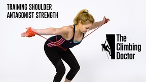 The Climbing Doctor Pro Tip: Shoulder Antagonist Strength Exercises with Sasha DiGiulian