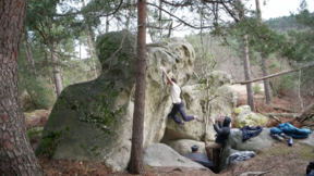 Hannes Puman Climbing 'Amok' (8A) In Fontainebleau