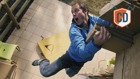 Matt Jumps Off A Building To Test The Psychi Bouldering Pad | Climbing Daily Ep.1116