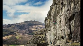 Neil Gresham Climbing Burnt Crag - Lake District