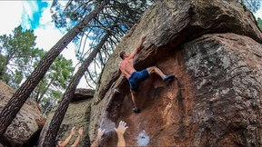Scary 7B+ Boulder...Don't Break Your Legs!