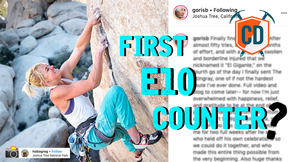 Desperate Classic Finger Crack...E10 Counter Controversy? | Climbing Daily Ep.1609